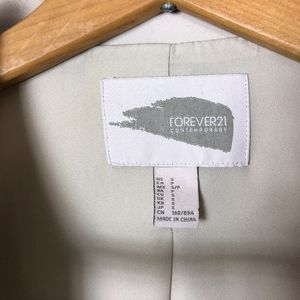 Forever 21 Jackets & Coats - Tan Contemporary Chic Long Line Career Blazer